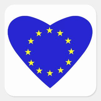 Love Europe Square Sticker