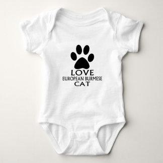 LOVE EUROPEAN BURMESE CAT DESIGNS BABY BODYSUIT