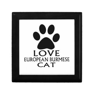 LOVE EUROPEAN BURMESE CAT DESIGNS GIFT BOX