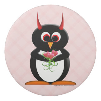 Love Evil Penguin eraser Cool School Supplies