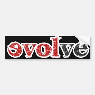 Love Evolve Bumper Sticker