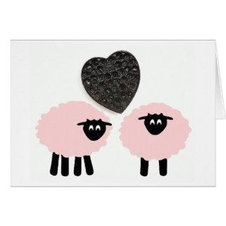"""""""Love Ewe 2"""", Whimsical Notecard Note Card"""