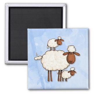 love ewe (no txt) square magnet