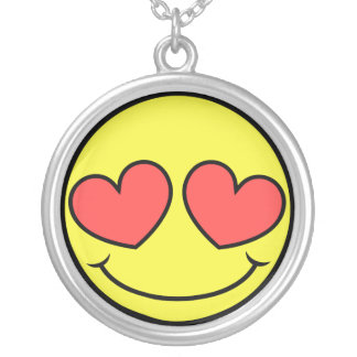 Love Face Silver Plated Necklace