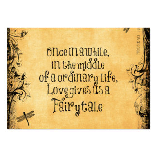 Love Fairytale Quote Vintage Antique Business Cards