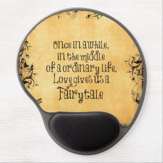 Love Fairytale Quote Vintage Antique Gel Mouse Pad