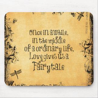 Love Fairytale Quote Vintage Antique Mousepad