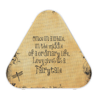 Love Fairytale Quote Vintage Antique Speaker