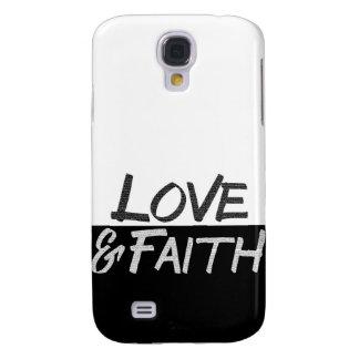 """Love & Faith"" Inspirational T-Shirt Samsung Galaxy S4 Cases"