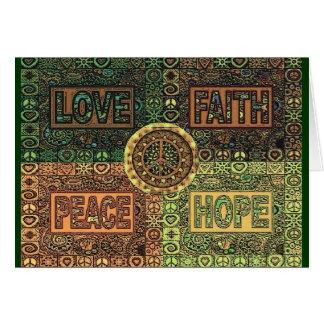 Love - Faith - Peace - Hope Card