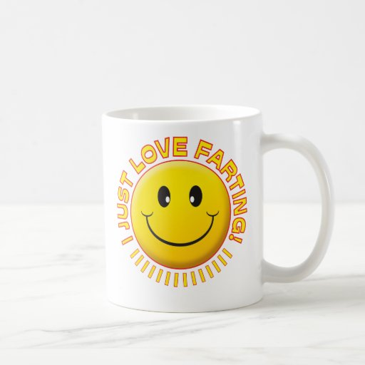 Love Farting Smiley Coffee Mug