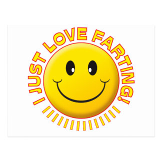Love Farting Smiley Postcard