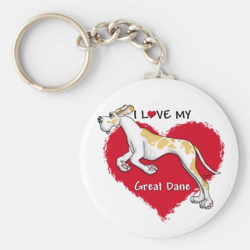 Love Fawnequin Great Dane UC Key Chains
