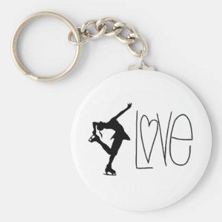 """Love Figure Skating"" Key Chain"