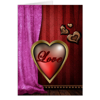 Love Filled Heart Greeting Card