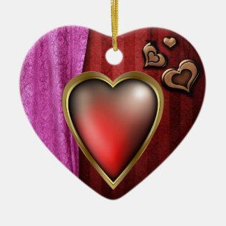Love Filled Heart Ceramic Heart Decoration