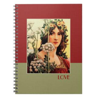 Love. Fine Art Valentine's Day Gift Notebooks