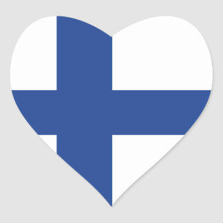 Love Finland, Finnish Flag Heart Sticker