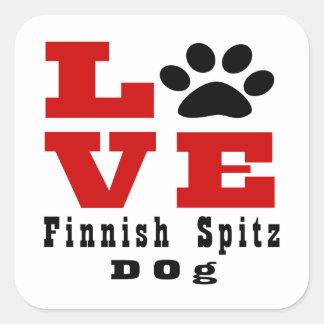 Love Finnish Spitz Dog Designes Square Sticker