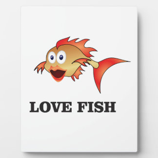 love fish plaque