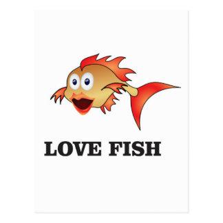 love fish postcard
