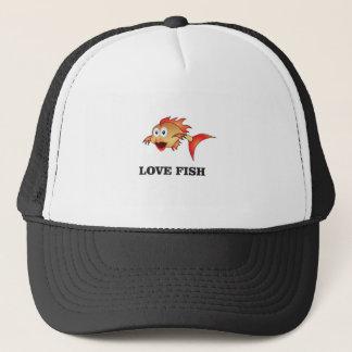 love fish trucker hat
