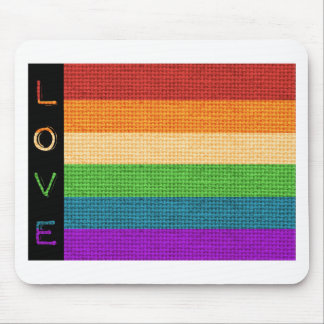 Love Flag Mouse Pad