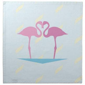 Love Flamingos Cloth Napkins