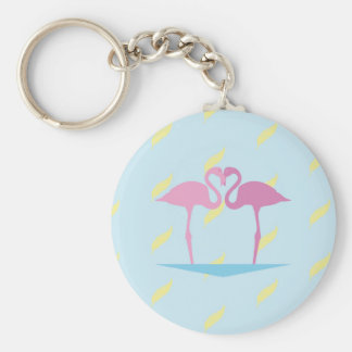Love Flamingos Key Ring