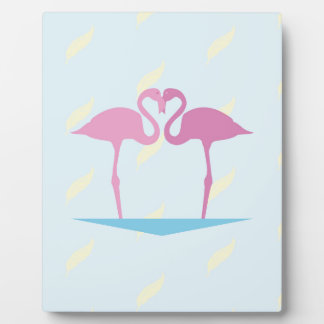 Love Flamingos Plaque