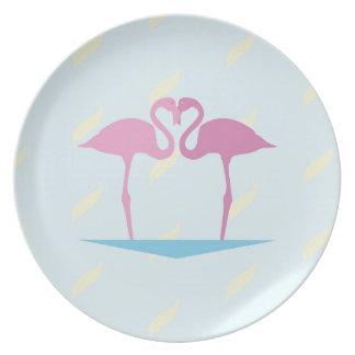 Love Flamingos Plate