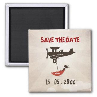 LOVE FLIGHT  Wedding Save the Date Fridge Magnets