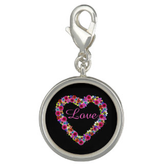 Love Floral Heart in Black