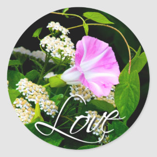 Love Floral Wedding Envelope Seal Sticker