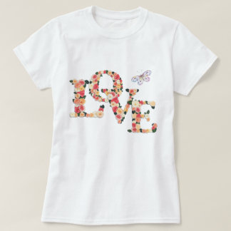 LOVE Floral With Butterfly T-Shirt