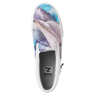 Love Florida - Dolphin Slip Ons Printed Shoes