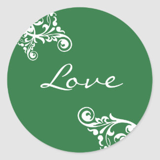 Love Flourish Envelope Sticker Seal
