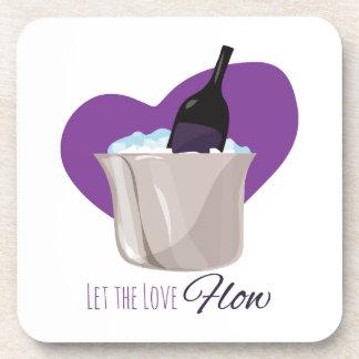 Love Flow Beverage Coaster
