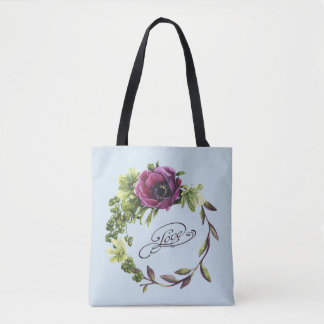 Love Flower Bouquet All-Over-Print Tote Bag