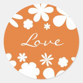 Love Flower Power Envelope Sticker Seal