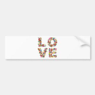 Love Flowers Bumper Sticker