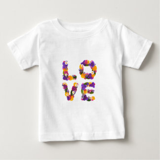 Love Flowers - Flower Typography Baby T-Shirt