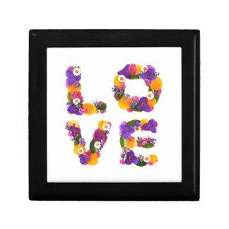 Love Flowers - Flower Typography Gift Box