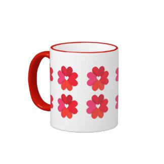 Love Flowers Ringer Mugs