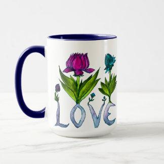 Love Flowers Two-Toned Mug