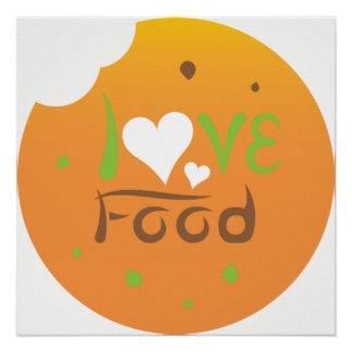 Love food poster design
