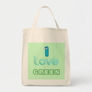 Love for environment shopping bag. grocery tote bag