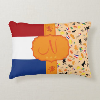 Love for Holland - monogram Accent Cushion