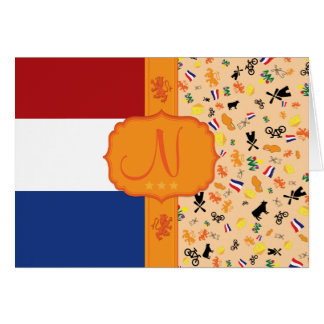 Love for Holland - Monogram Note Card