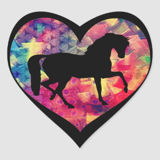 Love for Horses Heart Sticker